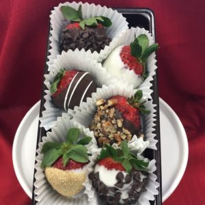 Assorted gourmet chocolate dipped strawberries NO NUTS