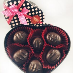 Marshmallow caramel 12pc Valentines heart box