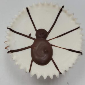 Giant spider white chocolate peanut butter cream cup