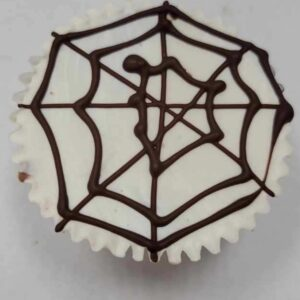 Giant spider web white chocolate peanut butter cream cup