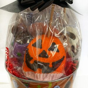 Halloween Caramel apple gift basket
