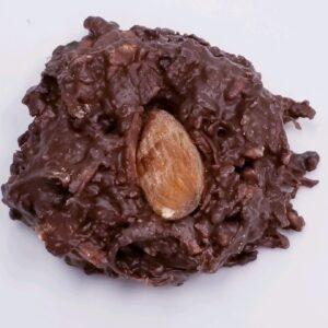 Coconut hay stack Dark chocolate with almonds